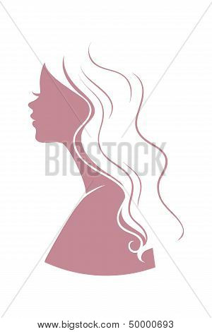 Vector illustration of Beautiful woman logo