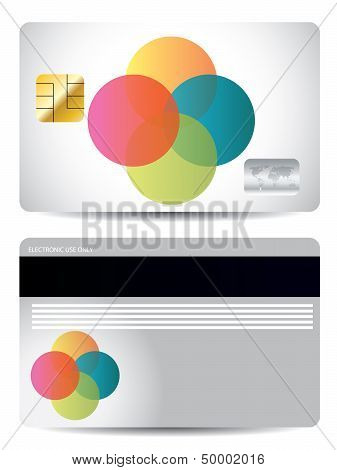 Credit Card Design With Color Dots