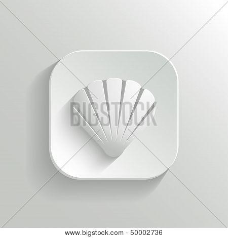 Shell Icon - Vector White App Button