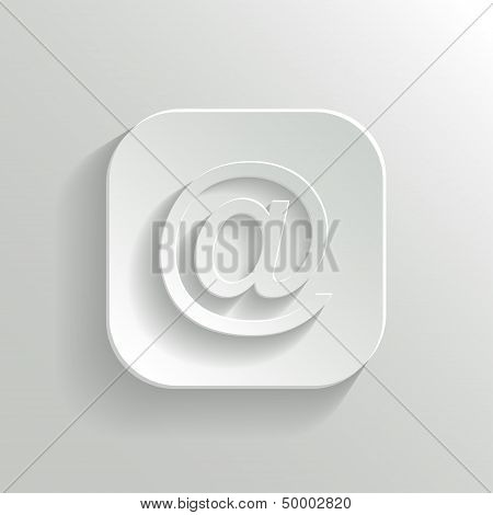 Mail Icon - Vector White App Button