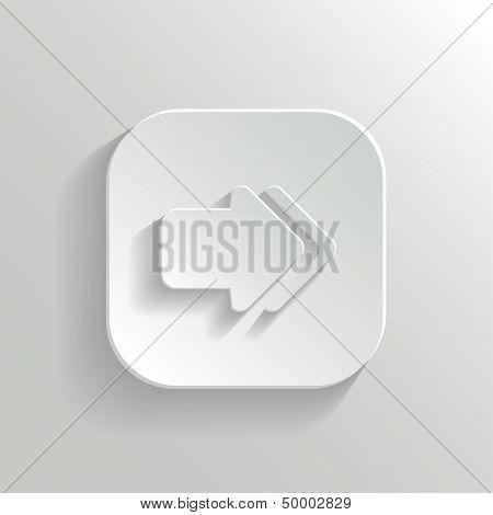 Arrow Icon - Vector White App Button