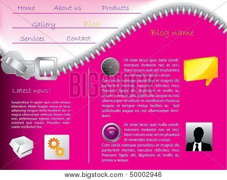 Zipper Website Template