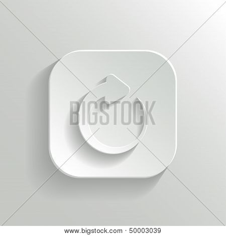 Media Player Icon - Vector White App Button