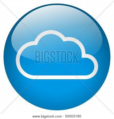 Cloud Blue Round Button