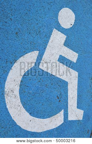 the icon for a disabled parking in Prague