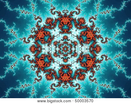 Colorful fractal ornament