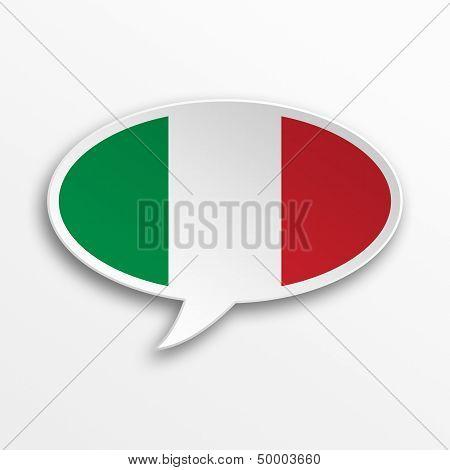 Italy 3D Speech Bubble