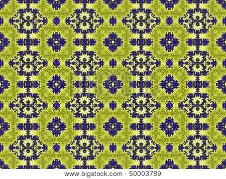 Seamless green geometric pattern