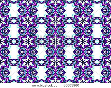 Seamless geometric pattern in blue color
