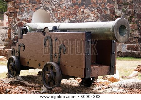 Front View Of A Cannon