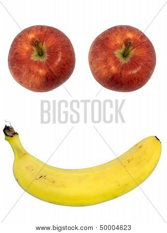 Happy Fruit Face - Apple, Banana