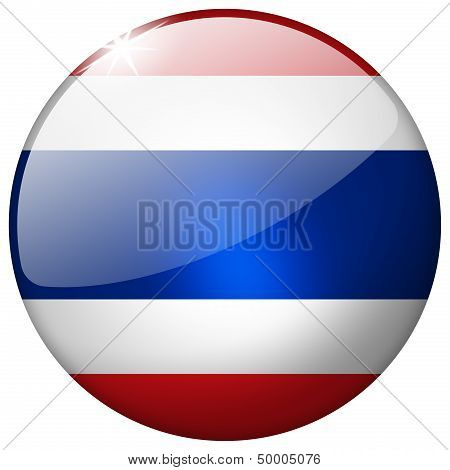 Thailand Round Glass Button