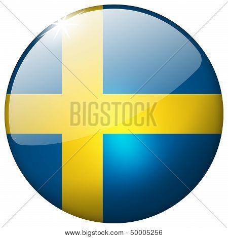 Sweden Round Glass Button