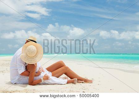 Couple on the beach of sea