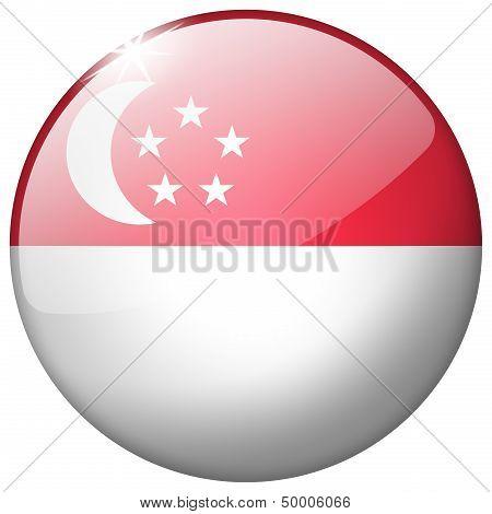 Singapore Round Glass Button
