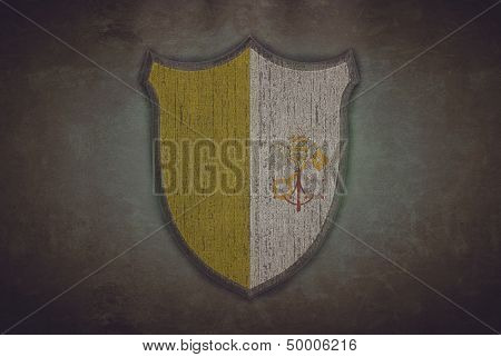 Shield With Vatican Flag.