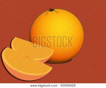 Orange and Slices