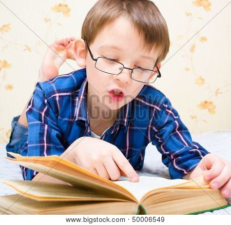Boy Reads The Book