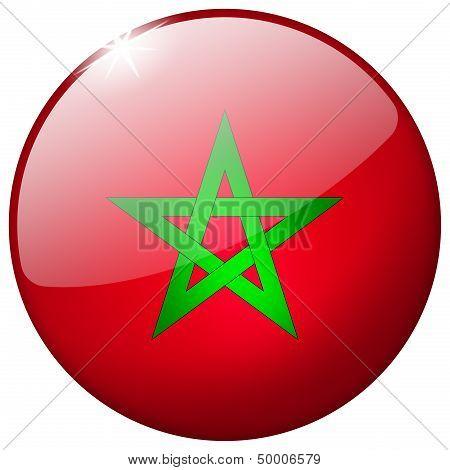Morocco Round Glass Button
