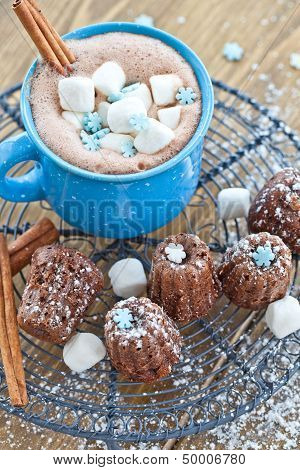 Hot Chocolate With Little Cakes