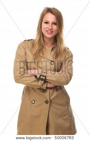 Beautiful Young Woman In Winter Coat