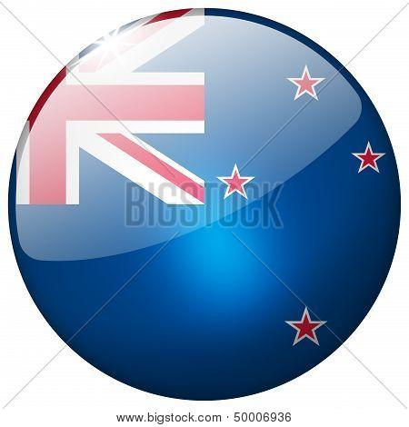 New Zealand Round Glass Button