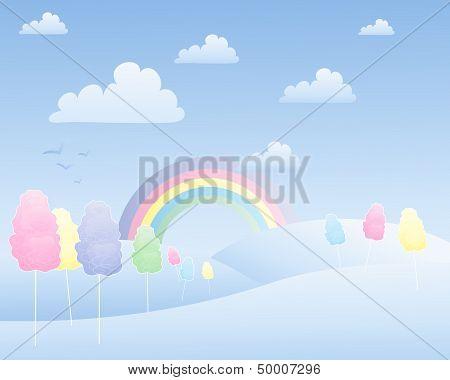 Cotton Candy Landscape
