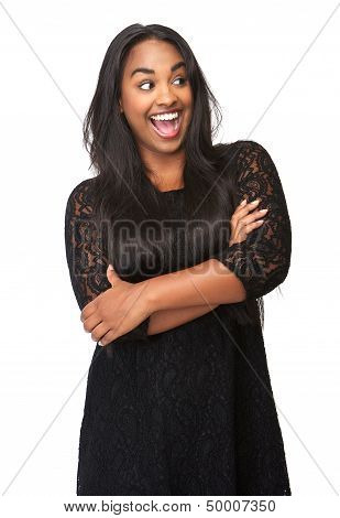 Portrait Of A Beautiful Woman With Funny Expression