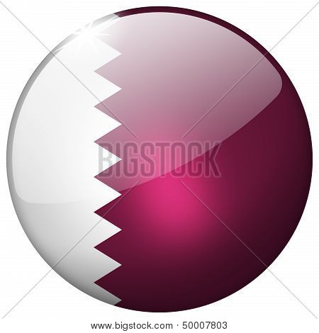 Qatar Round Glass Button