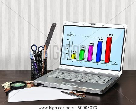 Laptop With Graphic