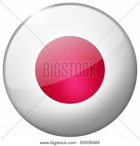 Japan Round Glass Button