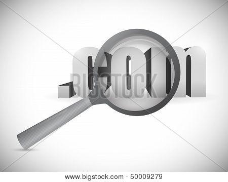 Com Domain Exploration Concept. Illustration