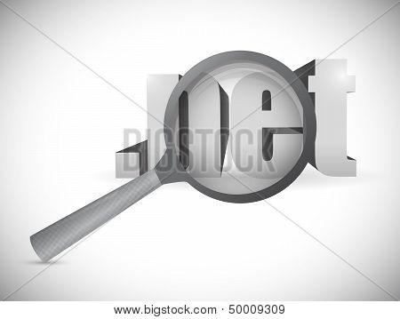 Net Domain Exploration Concept. Illustration