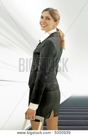 Businesswoman In The Airport