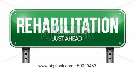 Rehabilitation Road Sign Illustration Design