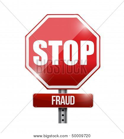 Stop Fraud Road Sign Illustration Design