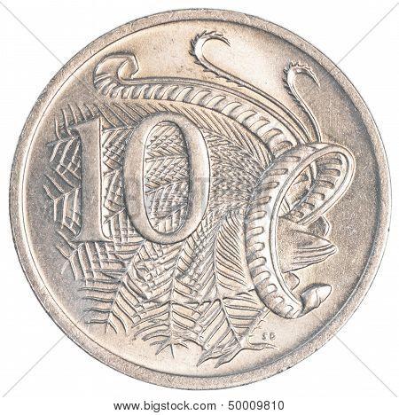 10 australian cents coin