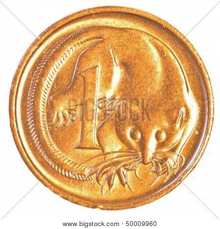 one australian cent coin