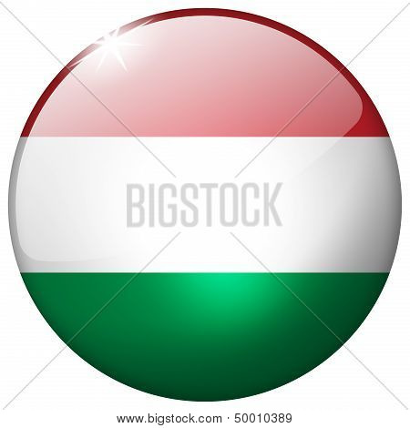 Hungary Round Glass Button