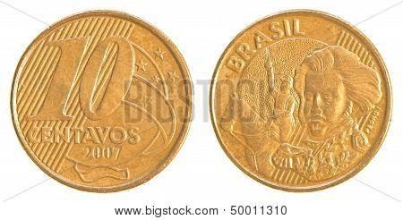 10 Brazilian Real Centavos Coin