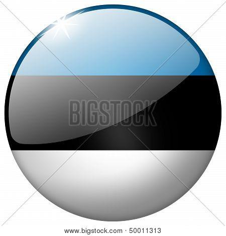 Estonia Round Glass Button