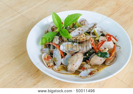 Fried Clams In Roasted Chili Paste