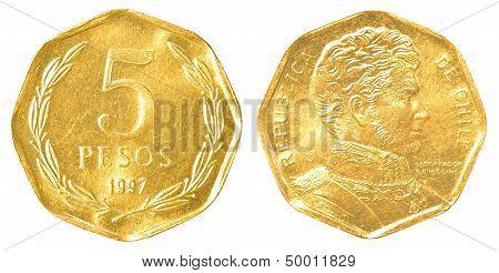 5 Chilean Pesos Coin