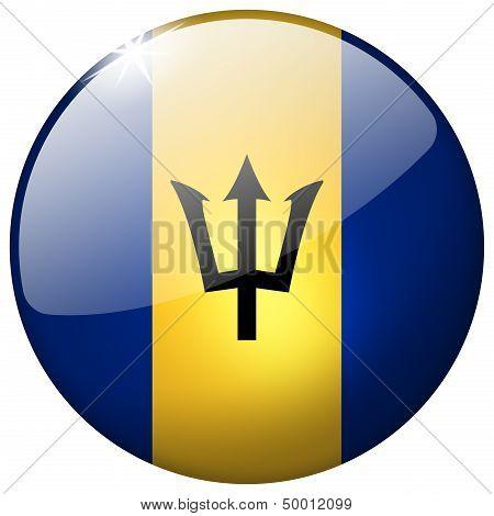 Barbados Round Glass Button