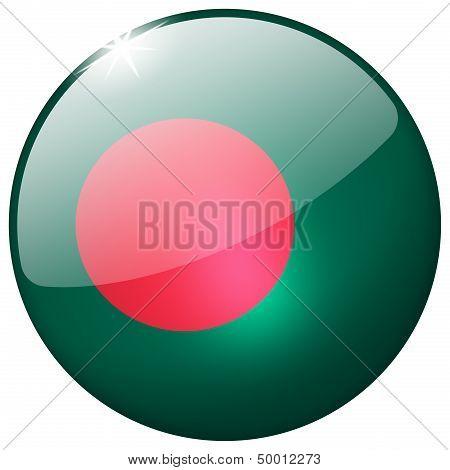 Bangladesh Round Glass Button