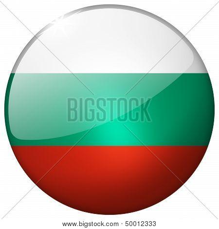 Bulgaria Round Glass Button