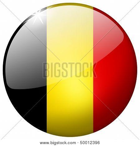Belgium Round Glass Button