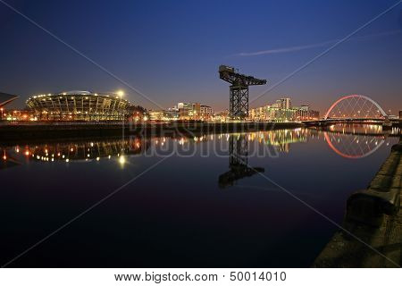 Clyde waterfront night