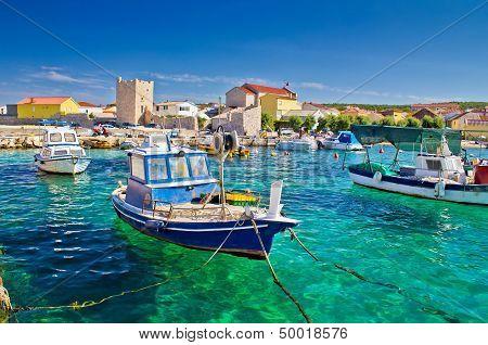 Adriatic Town Of Razanac Colorful Waterfront