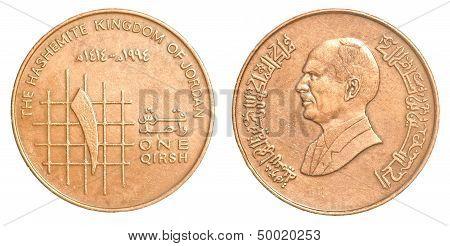 One Jordanian Qirsh Coin